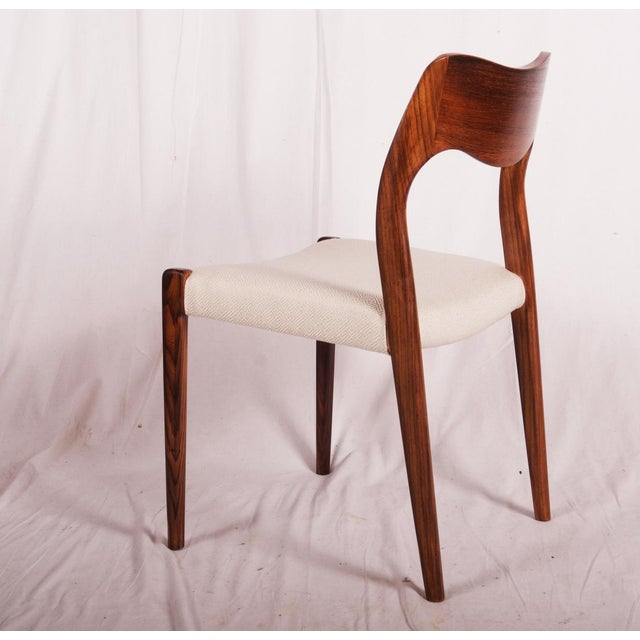 Model 71 Rosewood Dining Chairs by Niels O. Møller for JL Møllers, 1951 For Sale - Image 10 of 11