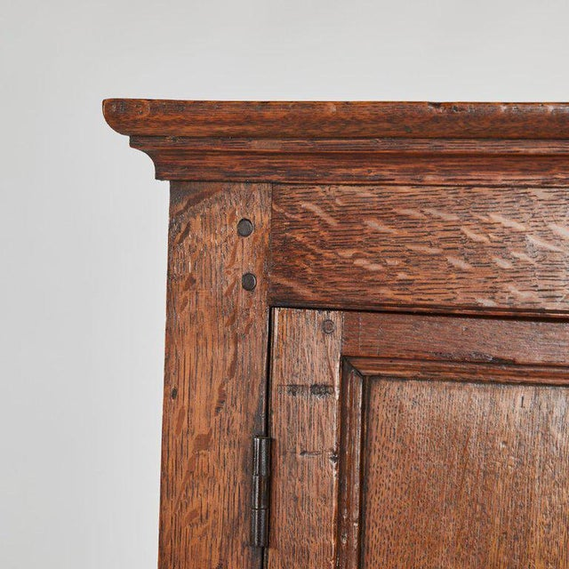 Cottage Oak Hall Cupboard on Stand For Sale - Image 3 of 6