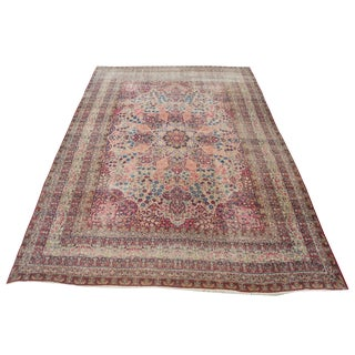 Late 19th Century Antique Persian Kerman Rug - 12′1″ × 17′3″ For Sale