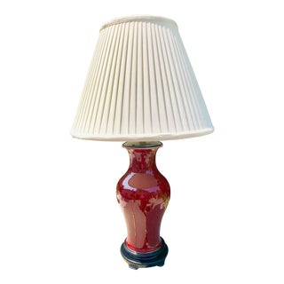 Frederick Cooper Two-Light Oxblood Table Lamp For Sale