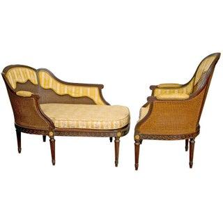 Frech Louis XIV Style 2-Piece Chaise For Sale