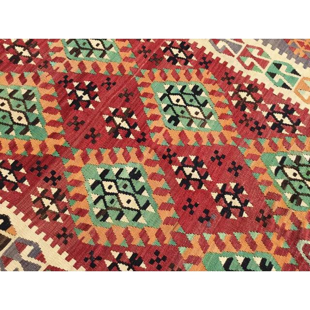 Vintage Turkish Kilim Rug For Sale - Image 10 of 12