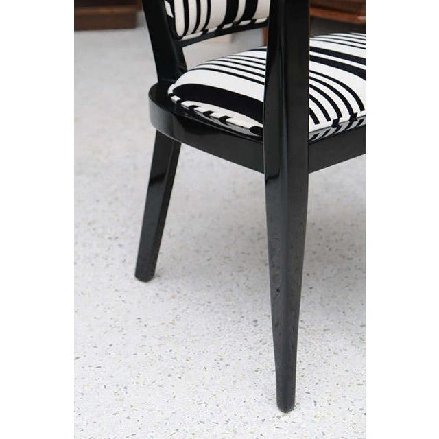 White Set of Ten Ebonized Armchairs in the Style of Ed Wormley for Dunbar For Sale - Image 8 of 9