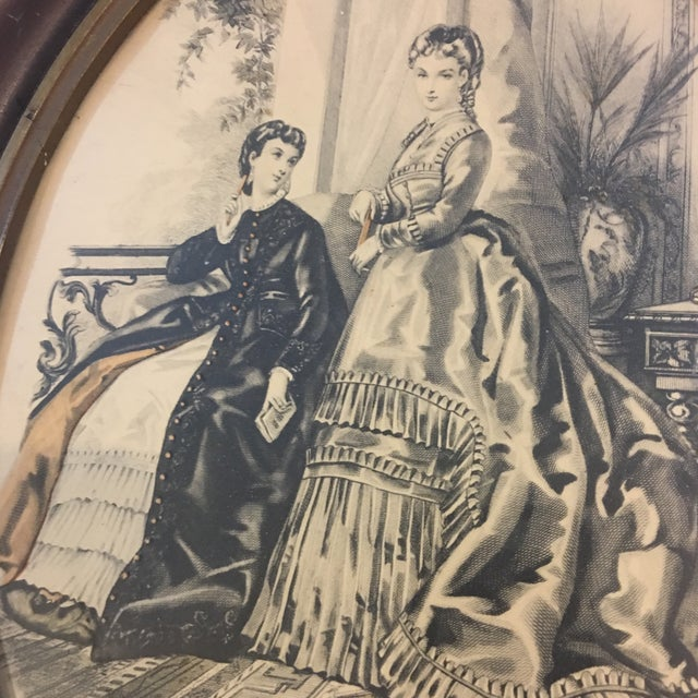19th Century Oval Frame of French Fashions For Sale In New York - Image 6 of 10