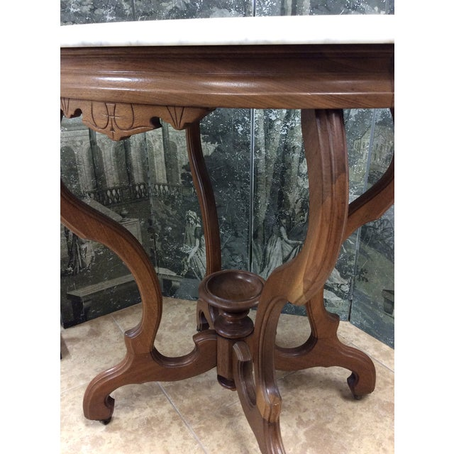 Marble Top Oval Table - Image 6 of 7