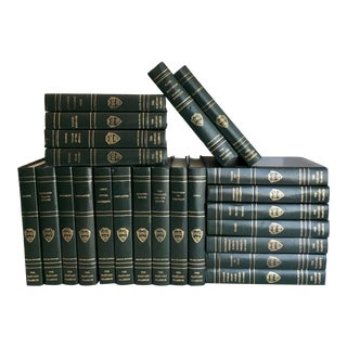 Set of 23 1930's Deluxe Edition Harvard Classics Leather Books For Sale