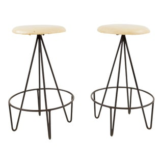 Frederick Weinberg Mid-Century Bar Stools - A Pair For Sale