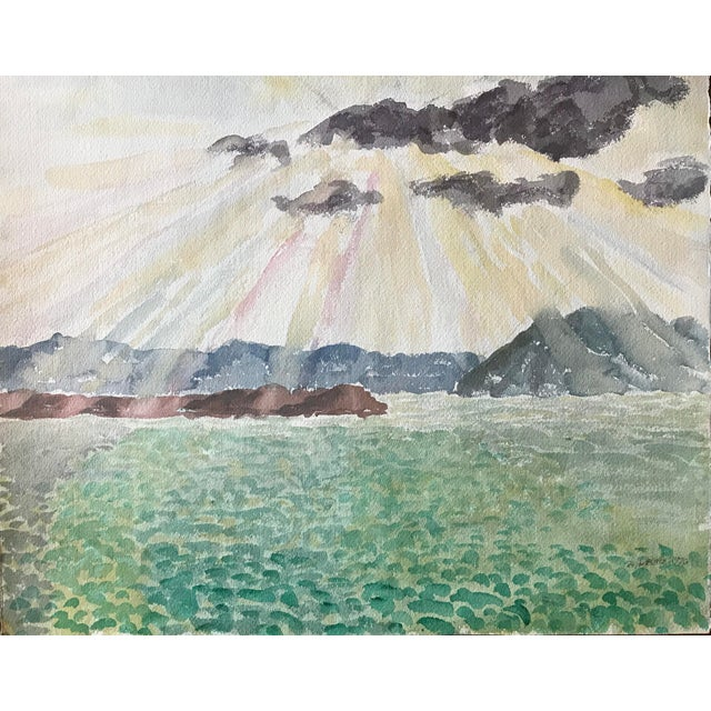 Passing Storm Over the Bay California Landscape Painting For Sale In New York - Image 6 of 6