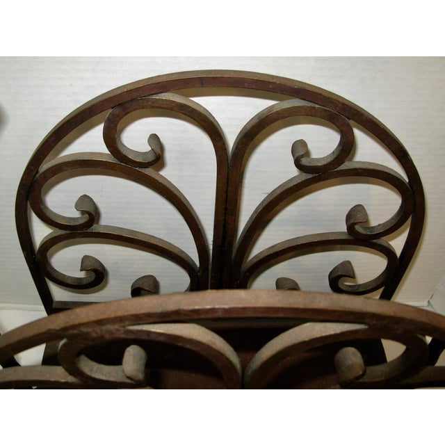 Old Heavy Cast Iron Log/Magazine Rack For Sale - Image 4 of 9