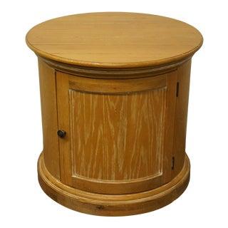 "Lexington Furniture 28"" Round Storage End Table For Sale"