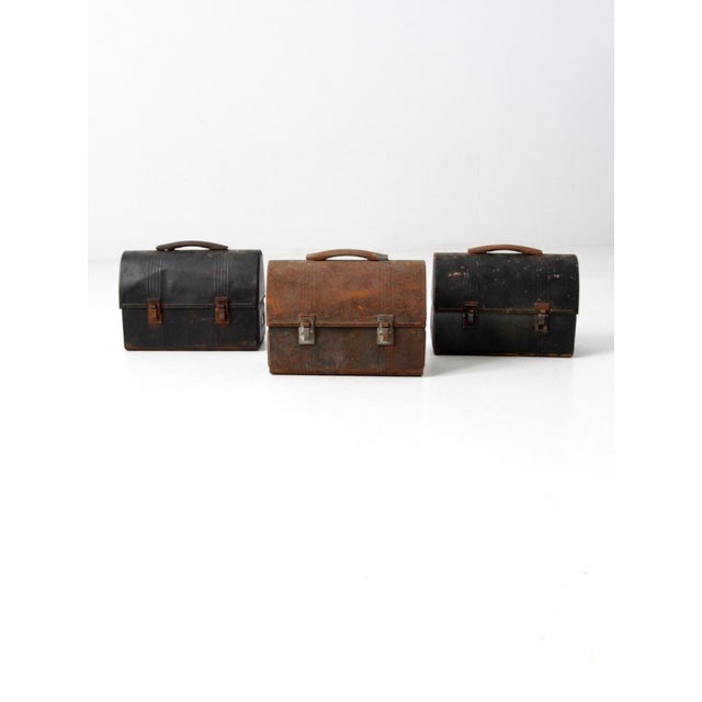 Vintage Workman's Lunch Box Collection - Set of 3 For Sale - Image 10 of 10