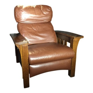 Stickley Mission Collection Bow Arm Morris Bustle Back Recliner