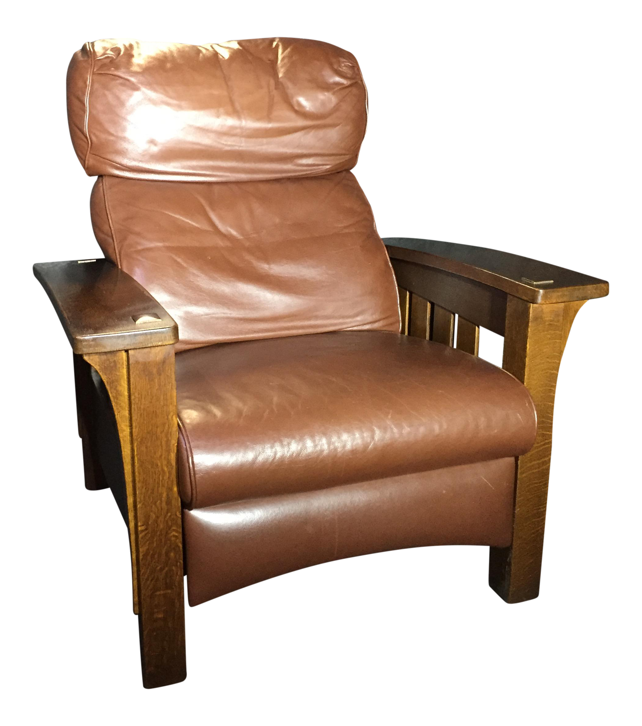Stickley Mission Collection Bow Arm Morris Bustle Back Recliner   Image 1  Of 7