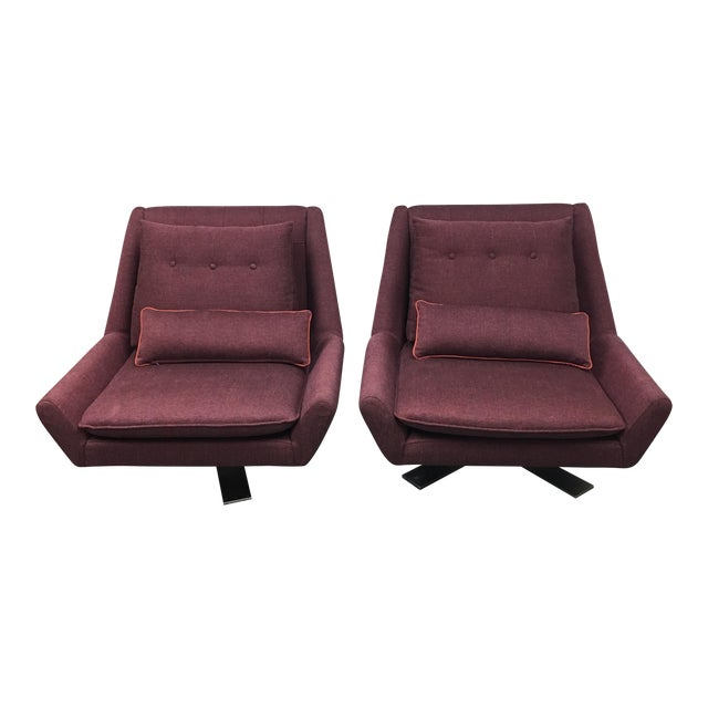 Vioski Palm II Swivel Chairs - A Pair - Image 1 of 8