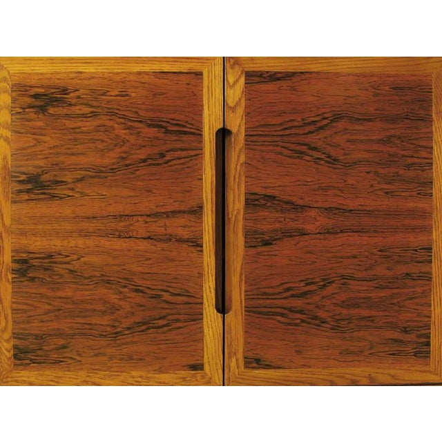 Dunbar Rosewood and White Oak Credenza For Sale In Chicago - Image 6 of 10