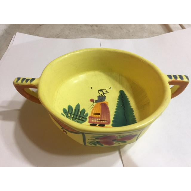 Yellow Quimper Pottery Dinnerware - 36 Pieces For Sale In Dallas - Image 6 of 10