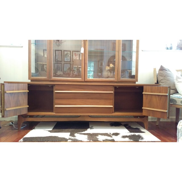 Mid-Century Kagan Style Bowed Front Hutch - Image 5 of 8