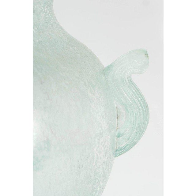 Handblown Murano Glass Vase With Scrolled Arms in the Manner of Karl Springer For Sale - Image 4 of 8