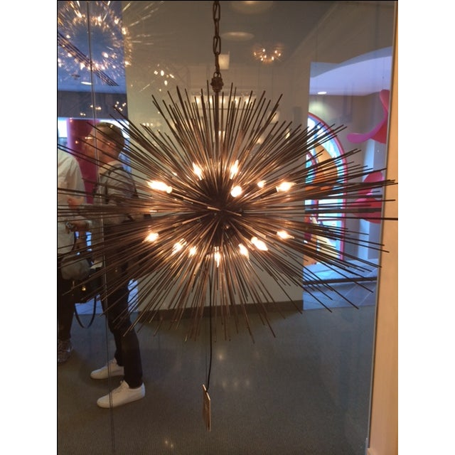 Kelly Wearstler Strada Oval Aged Iron Pendant Light - Image 2 of 3