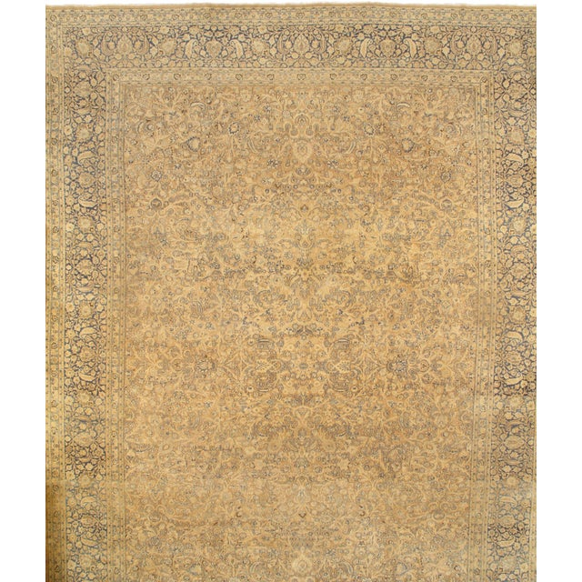 Pasargad N Y Genuine Antique Persian Mashhad Rug - 13′7″ × 18′9″ For Sale