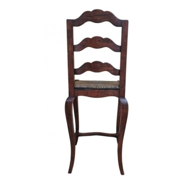 Traditional 1990s Vintage French Provincial- Style Rush Seat Bar Stools- Set of 3 For Sale - Image 3 of 4