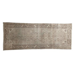 "Vintage Distressed Hamadan Rug Runner - 3'7"" X 8'10"""