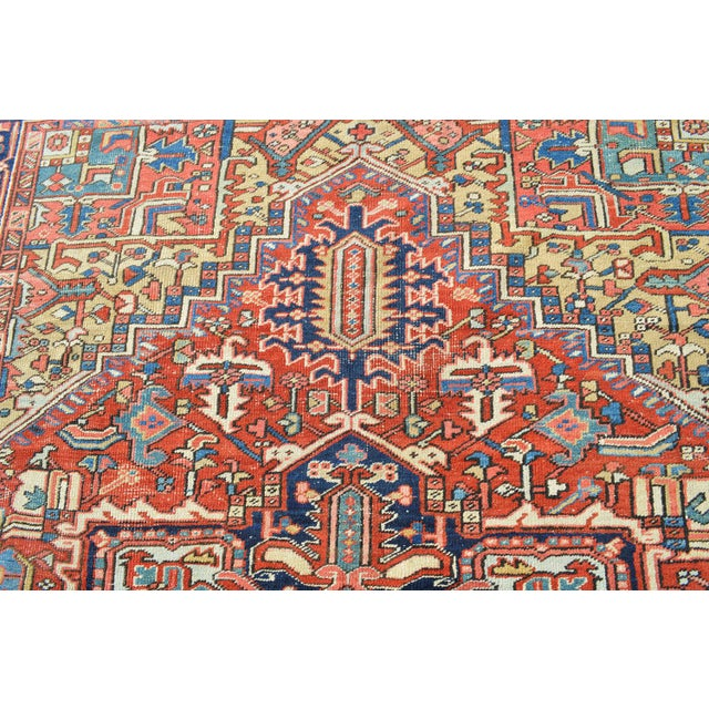 "Antique Persian Heriz Rug - 7'7"" X 10'11"" - Image 6 of 8"