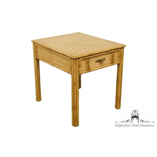 Vintage Mid Century Drexel Captiva Collection Faux Bamboo End Table Preview