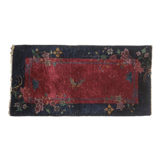 "Vintage Art Deco Rug Runner - 2' X 3'11"" For Sale"