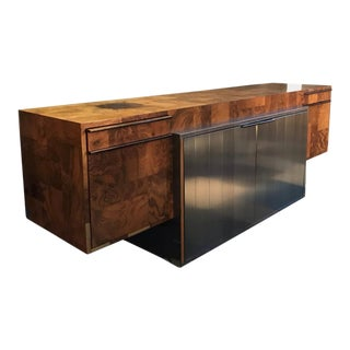 """1970s Paul Evans """"Cityscape"""" Burlwood Credenza for Directional Furniture For Sale"""