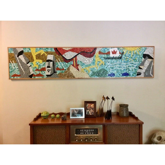 """I personally made this piece and based the design on a """"make your own mosaic"""" kit from 50's. It was made using high..."""