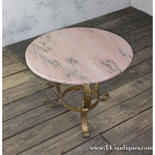 Small Round Coffee Table With Marble Top - Image 9 of 10