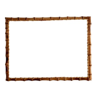 Vintage Bamboo Glass Frame For Sale