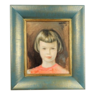 Mid-Century Portrait of a Young Girl, C-1955 For Sale