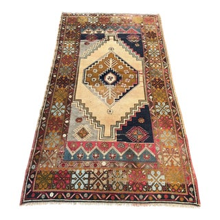 Antique Distressed Vintage Turkish Rug - 3′6″ × 6′9″