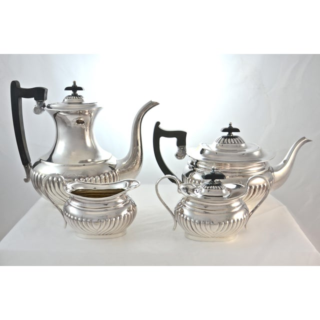 English Sheffield Silver Plate Coffee & Tea Set- 4 Pieces For Sale - Image 11 of 11