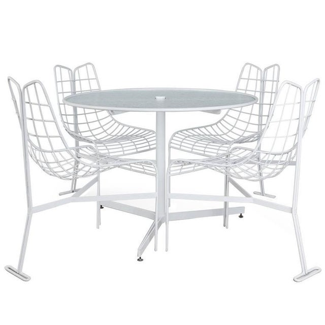 "Vladimir Kagan Restored ""Capricorn"" Outdoor Dining Set - S/4 For Sale - Image 9 of 9"