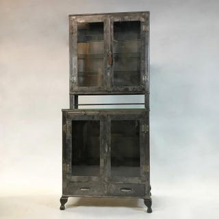 Vintage Industrial Brushed Steel Apothecary Cabinet Preview