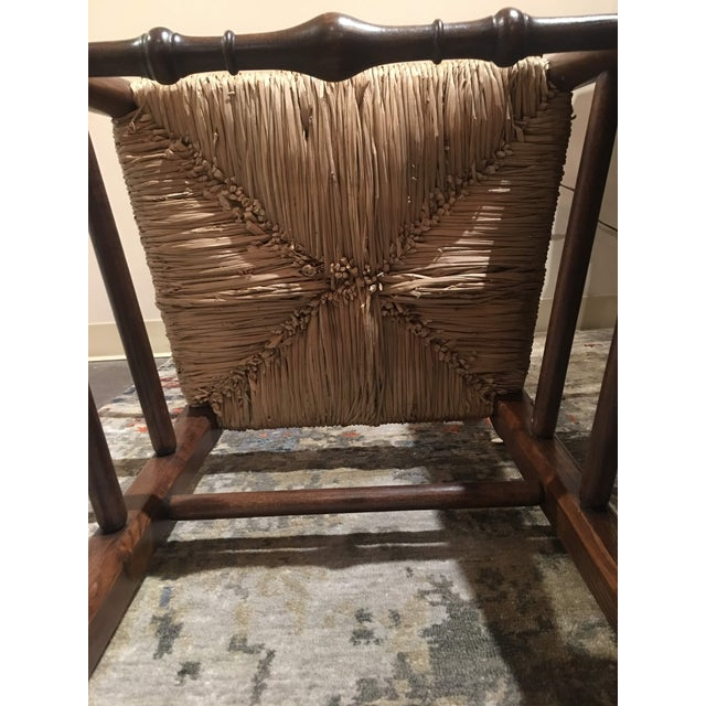 Modern Fauld Rush Chair For Sale - Image 9 of 13
