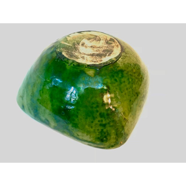 Vintage French Green Ceramic Square Bowl For Sale In New York - Image 6 of 8