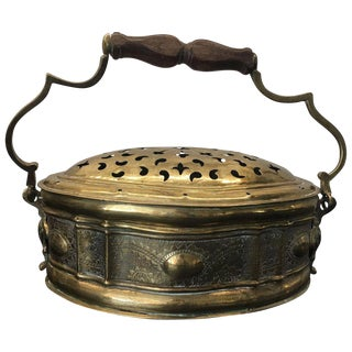 Antique Indian Brass Paan Daan Betel Nut Box For Sale