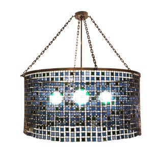Stained Glass Chandelier For Sale