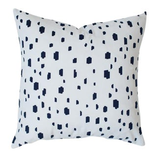 Caitlin Wilson Navy Spotted Pillow Cover