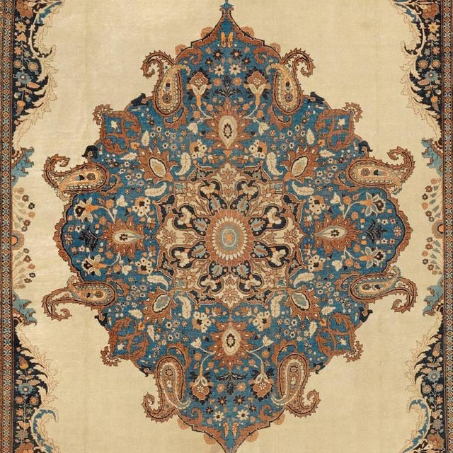 Tabriz carpets set a standard for elegance and are regarded as some of the finest Persian carpets of the nineteenth...