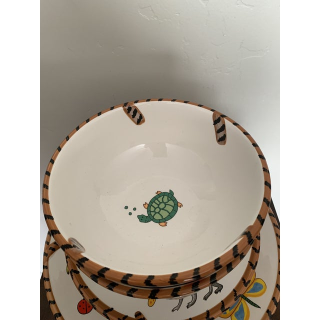 Lynn Chase Jungle Jubilee Hand Painted Colorful Wildlife China Set - 12 Pieces For Sale - Image 9 of 11