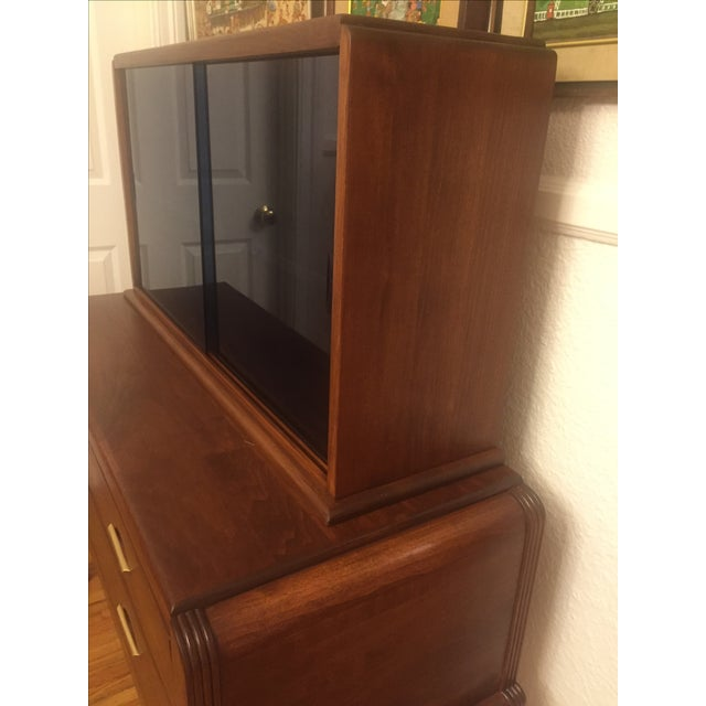 Art Moderne Two-Piece Breakfront Hutch - Image 9 of 11