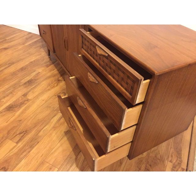 Wood Lane Perception Mid-Century Lowboy Dresser For Sale - Image 7 of 10