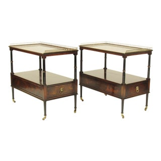 Regency-Style Mahogany End Tables - A Pair