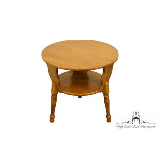 Ethan Allen Heirloom Nutmeg Round Drum Accent Table Preview