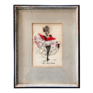 "Janicotte's ""Cancan"" Red Wall Art For Sale"